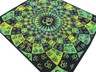 """Lime Green Aum Tapestry - Ethnic Indian Wall Hanging ~ XL 84"""" x 80"""""""