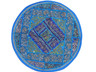 """Blue Round Unique Pillow Cover - Floor Seating Decorative Indian Cushion 26"""""""
