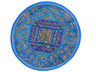 Blue Oversize Round Pillow Cover - Floor Seating Decorative Indian Cushion 26""