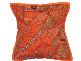 Orange Large Decorative Couch Pillow Cover ~ Tapestry Floor Euro Cushion Sham ~ 26 Inch