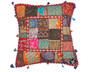 Multicolor Large European Square Pillow Case ~ Tapestry Floor Handmade Cushion ~ 26 Inch