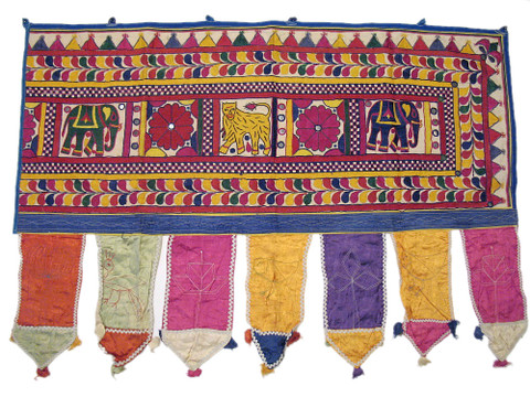 Vintage Banjara Decorative Valance Window Treatment India Decor Door Hanging M