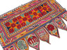 "Vintage Gujarat Embroidered Window Valance - Indian Toran Door Topper 42"" x 30"""