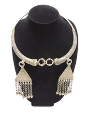Pewter Metal Neck Ring Vintage Kuchi Handmade Jewelry - Belly Dance Necklace