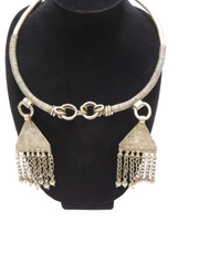 Inspired Handcrafted Vintage Banjara Jewelry – Ethnic Gypsy Neck Ring with Danglers