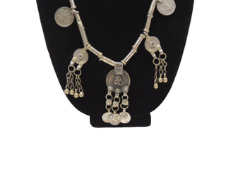 Ethnic Fashion Coin Indian Necklace Kuchi Pendant Artisan Made Long Necklet