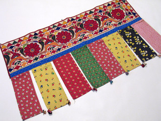 Tribal Embroidery Ethnic Window Home Room Decor Valance