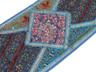 "Blue Decorative Vintage Textile Tapestry - Indian Wall Hanging Decor Table Runner 59"" x 19"""
