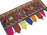 Vintage Window Door Topper Covering Tapestry Rare Embroidered Toran Valance 48in