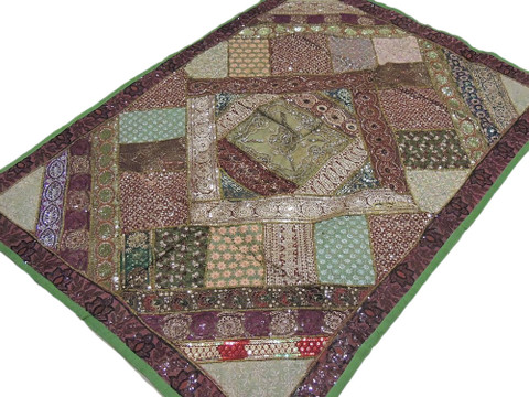 """Multicolor Bohemian Home Decor Tapestry Patchwork Indian Wall Hanging 60"""" x 40"""""""