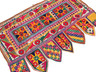 """Bohemian Geometric Embroidered Vintage Toran - Traditional Indian Window Topper 42"""" x 27"""""""