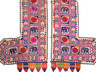 "Embroidered Elephant Floral Vintage Wall Hanging - Traditional Indian Door Topper 68"" x 66"""