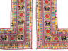 """Embroidered Elephant Floral Vintage Wall Hanging - Traditional Indian Door Topper 66"""" x 57"""""""