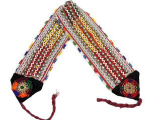 Handmade Gypsy Beaded Embroidered Belt - Dance Costume Accessory ~ One Size
