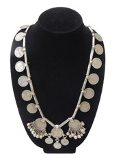 Tribal Belly Dance Coin Necklace – Ethnic Banjara Gypsy Handmade Vintage Jewelry