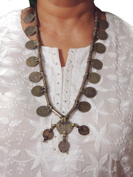Vintage Retro Style Pendant Coin Tribal Nomads Fashion Necklace from India
