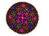 """Chocolate Brown Floral Embroidered Round Pillow Cover - Indian Floor Seating Cushion 24"""""""