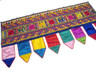 Colorful India Inspired Valance Fabric Curtain Textile Kutch Door Window Hanging