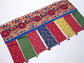 Ethnic Embroidery Doorway Hanging Topper Window Valance