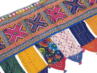 Decorative Kutch Window Coverings Valance Toran Door Hanging Tribal Tapestry
