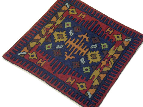 Ethnic Decor Chair Pillowcase Wool Embroidered Floral Home Decorator Cushion