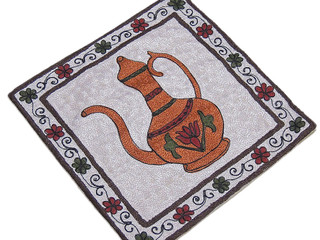 Goglet Crewel Embroidered Cushion Kashmir Handmade Crewel Textile Pillowcase