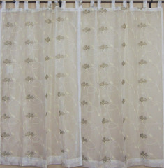White Indian Sari Curtains 2 Ethnic Window Door Coverings Treatments Panels 90in