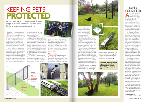 ProtectaPet expands cat containment range Catworld 2016