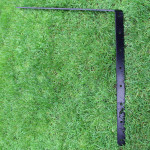 ProtectaPet® Cat Fence Left Corner Extra Long Bracket from reverse angle showing logo.