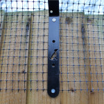 ProtectaPet® Dog Fence Bracket in use.