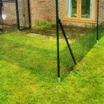 ProtectaPet® Black Coated Steel Welded Mesh in use.