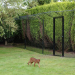 ProtectaPet® Single Gate in use with 2.3m posts in turf