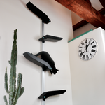 Catipilla Pro Cat Shelves, designed to mount to walls indoor or outdoor.