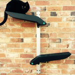 Catipilla Mini Cat Shelves, designed to mount to walls indoor or outdoor.