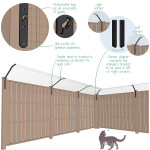How a ProtectaPet fencetop corner adapter works.