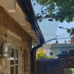 Hook and wire for constructing mesh canopies and attaching mesh to brickwork