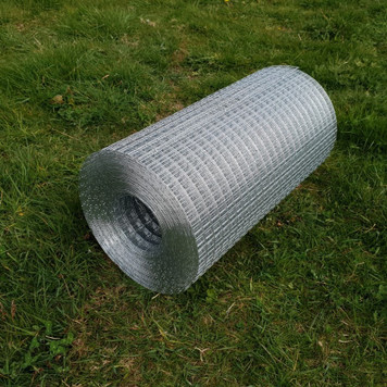 High quality European manufactured steel weld mesh used to create a chew guard at the bottom of a cat enclosure fence.