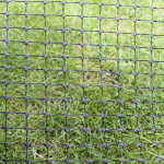 A sample of 80gsm high tensile plastic mesh.
