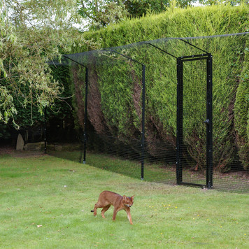 ProtectaPet® Cat Enclosure Turf in use.