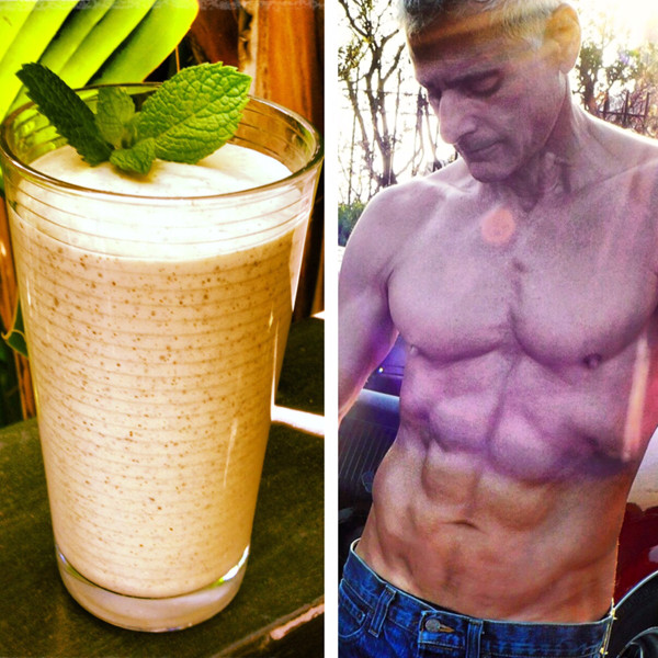 Mint, chia seed, almond milk & Protein Lean Vanilla smoothie. Rick Dinihanian, company founder.