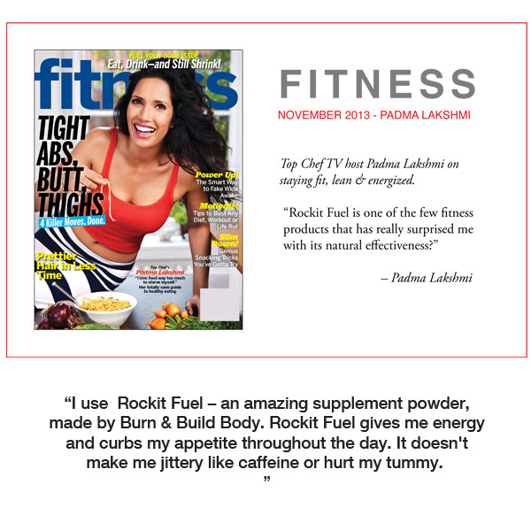 Padma Lakshmi, host of TV's Top Chef recommends Rockit Fuel