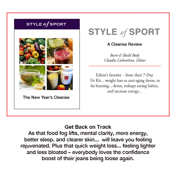 Style of Sport The New Year's Cleanse Burn & Build Body is the editor's favorite