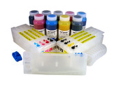 Refillable Cartridge Kit for Epson Pro 4800 with 9 x 500 ml bottles of Cave Paint Elite Enhanced pigment inks - includes both Photo & Matte Black inks and cartridges