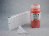 1 x Refillable Cartridge for the Epson Pro 4900 with 1 x 0.5 Liter Bottle of Cave Paint Elite Enhanced pigment ink - Orange