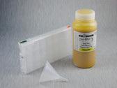 1 x Refillable Cartridge for the Epson Pro 4900 with 1 x 0.5 Liter Bottle of Cave Paint Elite Enhanced pigment ink - Yellow