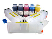 Refillable Cartridge Kit for Epson Pro 7700/9700 with 5 x 500 ml bottles of Cave Paint Elite Enhanced pigment inks