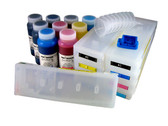 Refillable Cartridge Kit for Epson Pro 7890/9890 with 9 x 500 ml bottles of Cave Paint Elite Enhanced pigment inks