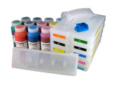 Refillable Cartridge Kit for Epson Pro 7900/9900 with 11 x 500 ml bottles of Cave Paint Elite Enhanced pigment inks