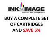 Set of 5 x 130 ml PFI-102 compatible cartridges for the Canon imagePROGRAF iPF500, iPF510, iPF600, iPF605, iPF610, iPF700, iPF710, and iPF720 filled with Absolute Match V3 inks