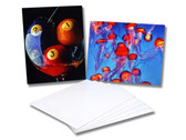 "Sublim8 Aluminum dye sublimation panel 0.032"" X 6"" X 6"" Gloss White, 1/8"" radius corners, pack of 10"